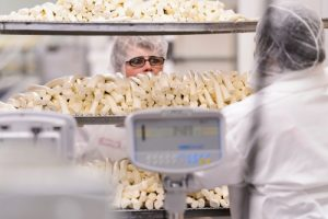 Completed cheese is ready to be packaged at Chula Vista Cheese Company. Photo: Jeff Miller
